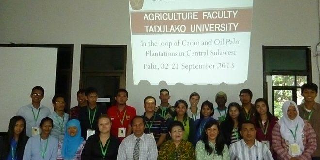 Mahasiswa Prodi Agroteknologi sebagai Peserta Summer School 2013